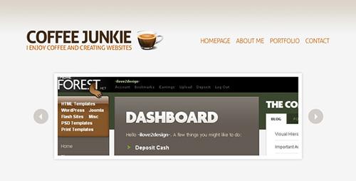 ThemeForest - Coffee Junkie XHMTL/CSS Version - RIP