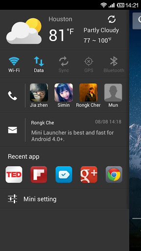 Mini Launcher v1.71 (Android Application)