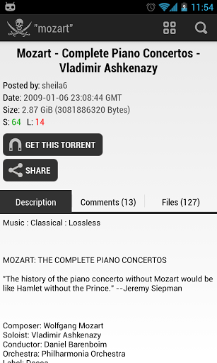 The Pirate Bay Downloader v1.5.5 by PBT (Android Application)