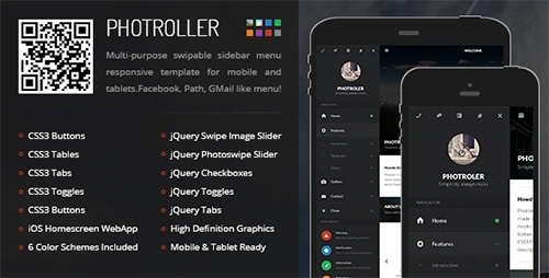 ThemeForest - Photroller | Mobile & Tablet Responsive Template - RIP