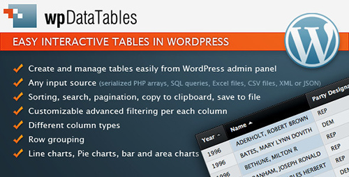 CodeCanyon - wpDataTables v1.1 - easy tables in WordPress