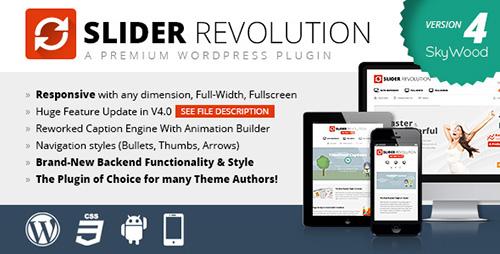 CodeCanyon - Slider Revolution v4.0.4 - Responsive WordPress Plugin