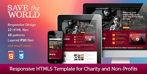 ThemeForest - SaveTheWorld: Responsive HTML theme for Charity - RIP