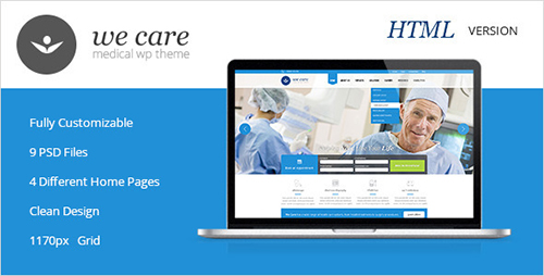 ThemeForest - We Care - Premium Medical HTML Template - RIP