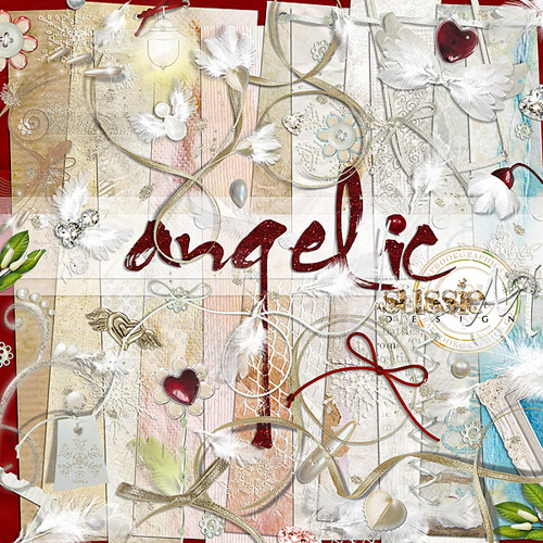 Scrap Set - Angelic PNG and JPG Files