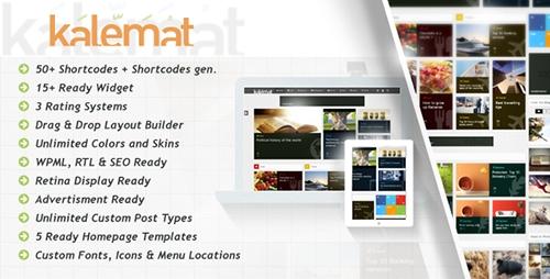 ThemeForest - Kalemat v1.0 - Retina Magazine WordPress Theme