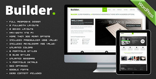 ThemeForest - BUILDER v1.1.2 - Responsive Multi-Purpose WP Theme