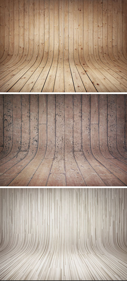 PSD Source - 3 Curved Wooden BackDrops Vol.2