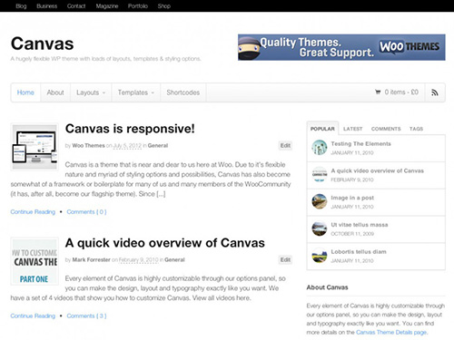 WooThemes - Canvas v5.5.3 - Wordpress Template
