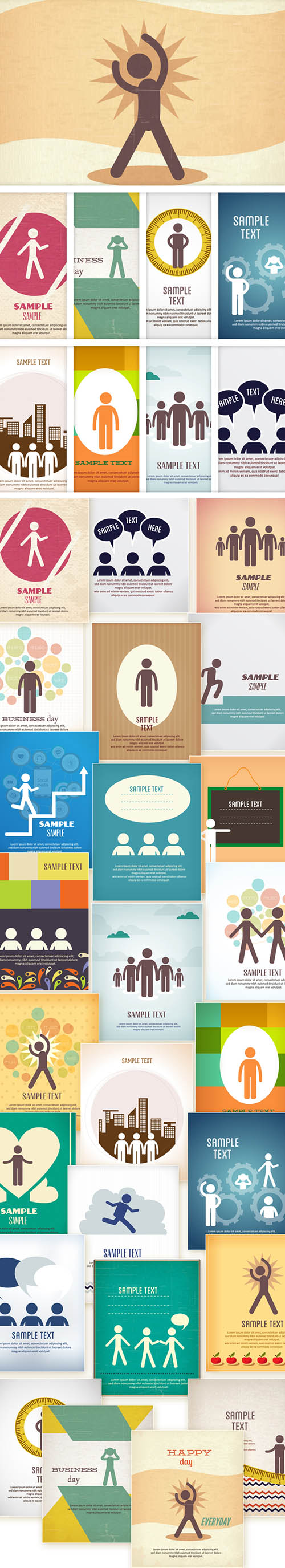 25 People Vector Illustrations