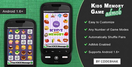 CodeCanyon - Kids Memory Game with AdMob v1.0