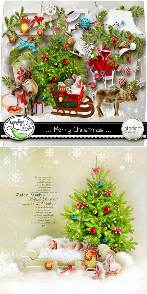 Scrap Kit - ...Merry Christmas... PNG and JPG Files