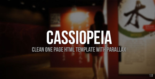 ThemeForest - Cassiopeia - Clean One Page Template with Parallax - RIP