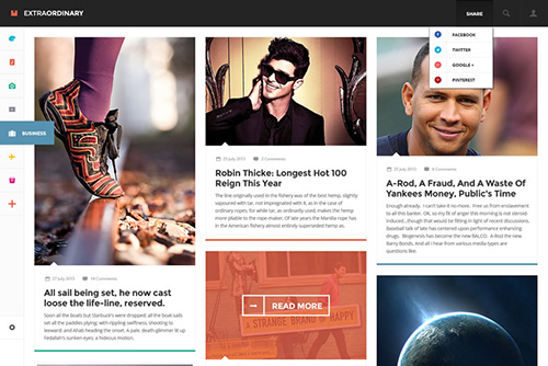 PSD Web Design - Extraordinary Modern Layout for Blogs