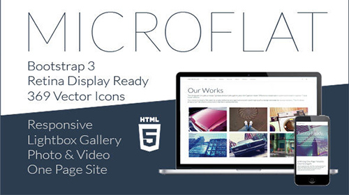 Mojo-Themes - Microflat - One Page Responsive Multipurpose Retina Template - RIP