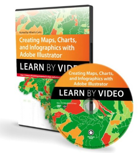 Elearning - Creating Maps Charts and Infographics with Adobe Illustrator Learn by Video