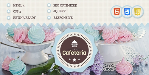 ThemeForest - Cafeteria Responsive HTML Template - RIP