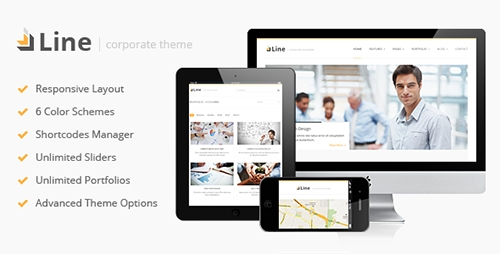 ThemeForest - Line v1.1 - Responsive Corporate WordPress Theme