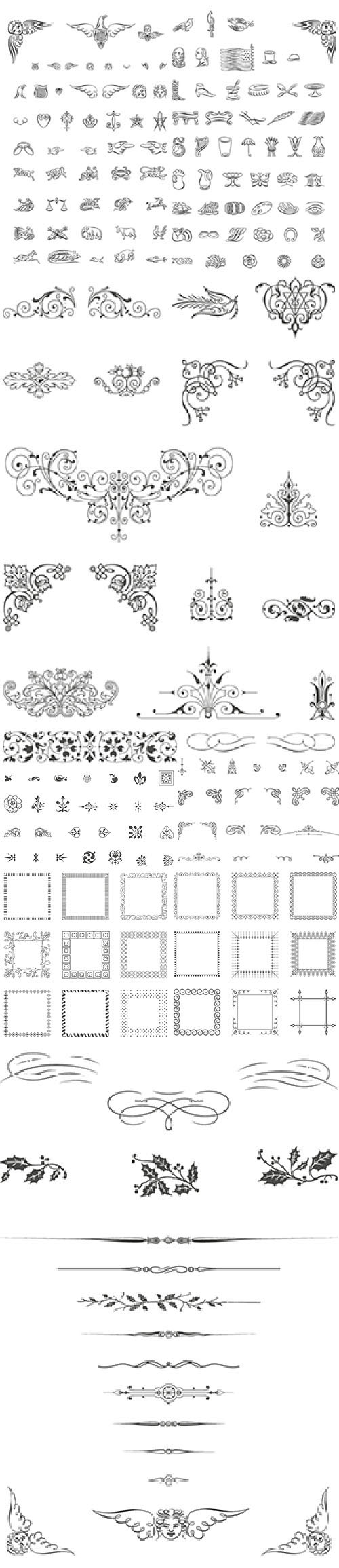 Vintage Calligraphic Ornaments Vector Illustrations Bundle