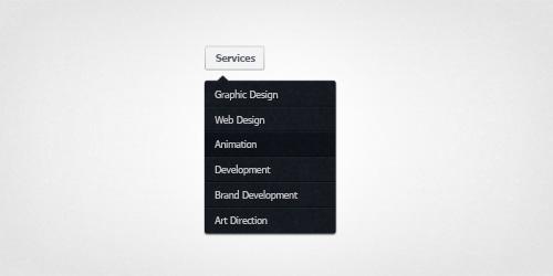 PSD Web Design - Dropdown Menu - November 2013