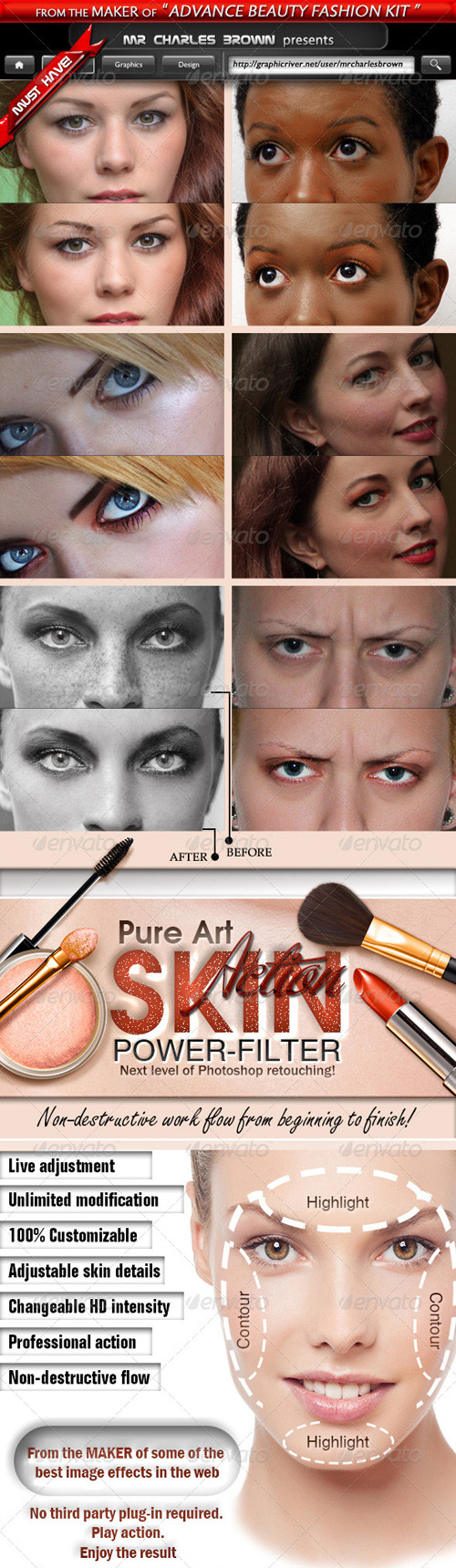 GraphicRiver - Pure Art Skin Power Filter