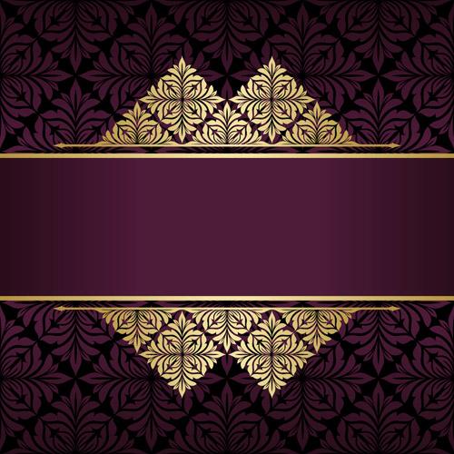 Golden patterns, vector backgrounds
