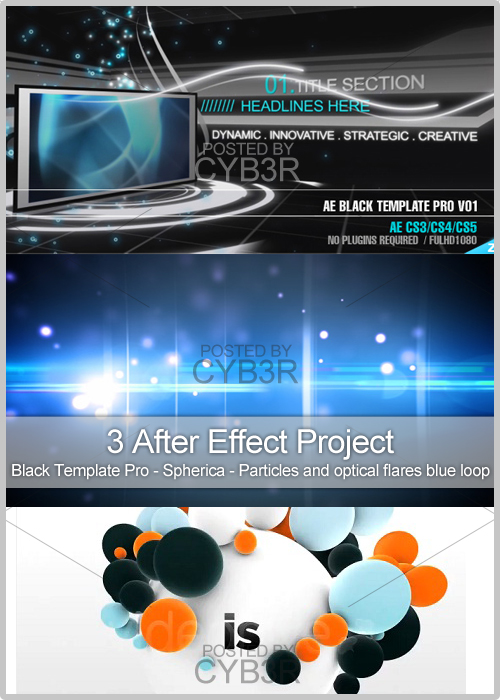 3 After Effect Project Collection