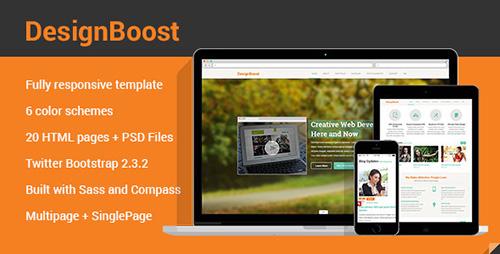 ThemeForest - DesignBoost Responsive Web Template - RIP
