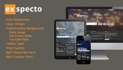 ThemeForest - Exspecto - Responsive Under Construction Page - FULL