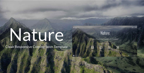 ThemeForest - Nature - Clean Responsive Coming Soon Template - RIP