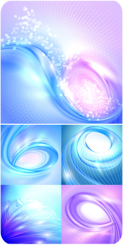 Beautiful vector background with blue and violet waves