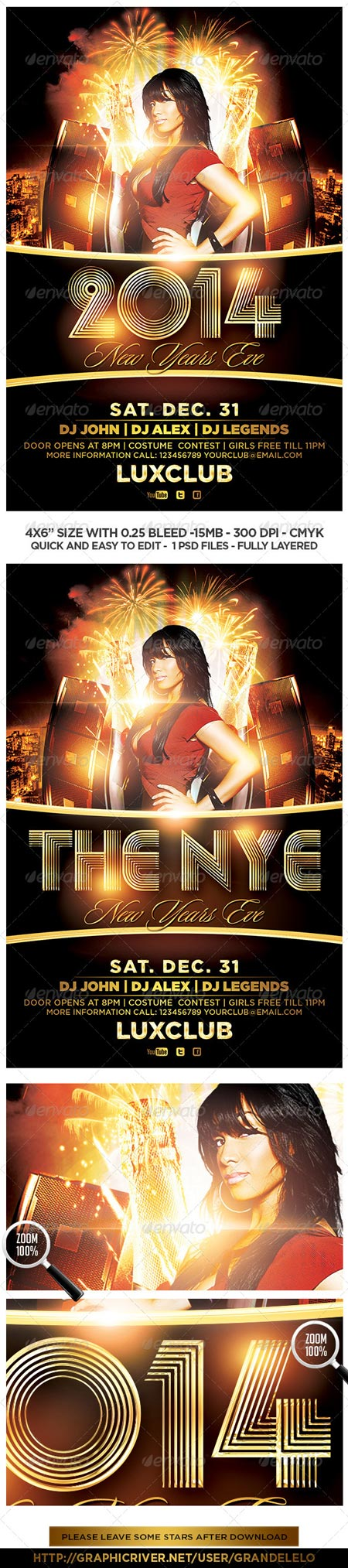 GraphicRiver 2014 New Years Eve Flyer 6112249