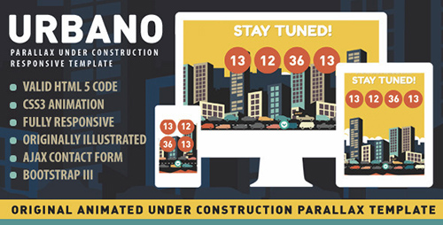 ThemeForest - Urbano Animated Under Construction Page - FULL