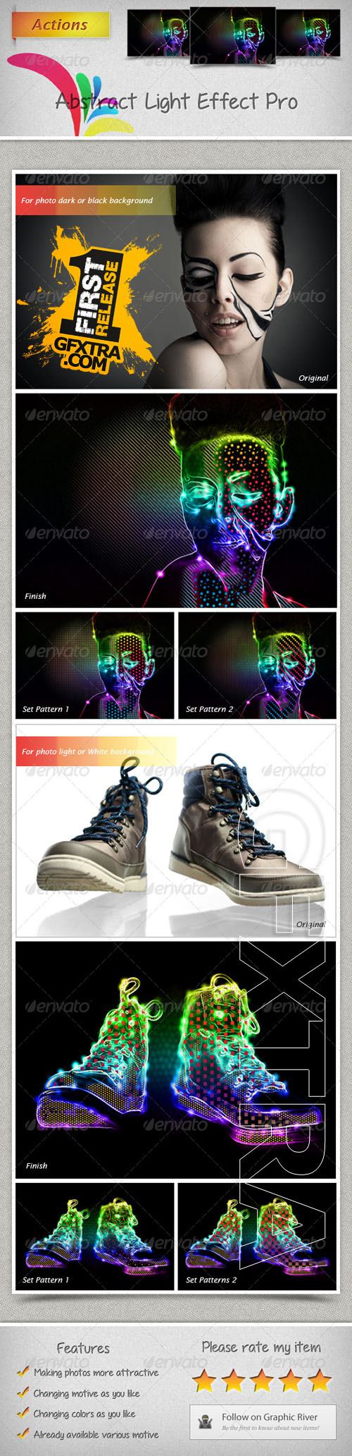 GraphicRiver - Abstract Light Effect Pro Actions 6341041