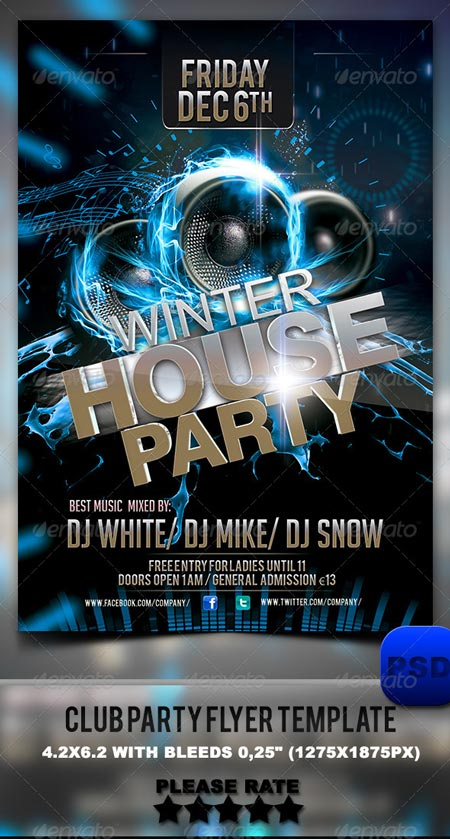 GraphicRiver Club Party Flyer Template 6333254