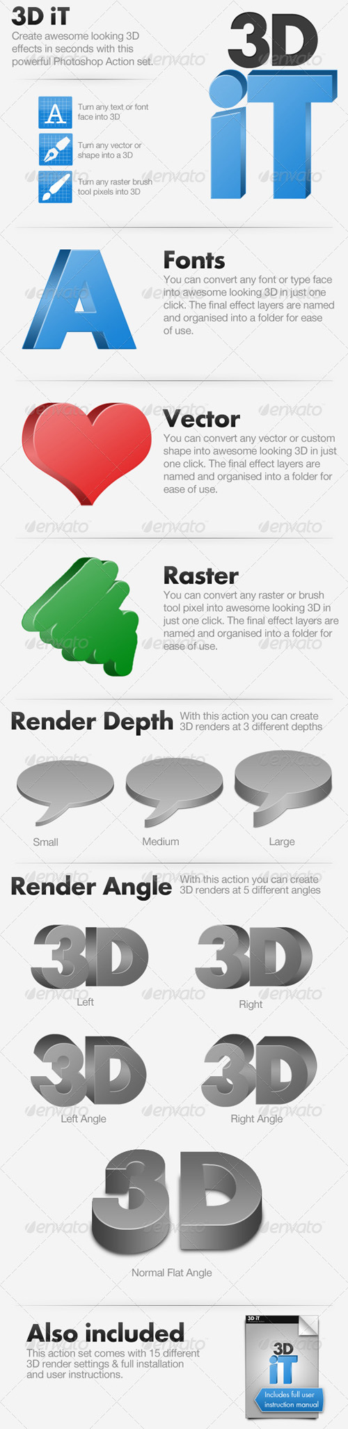GraphicRiver - 3D iT - 15 3D Rendering Actions