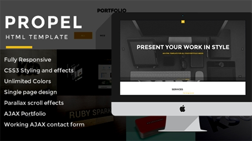 Mojo-Themes - Propel - Sing Page Responsive HTML Template - RIP