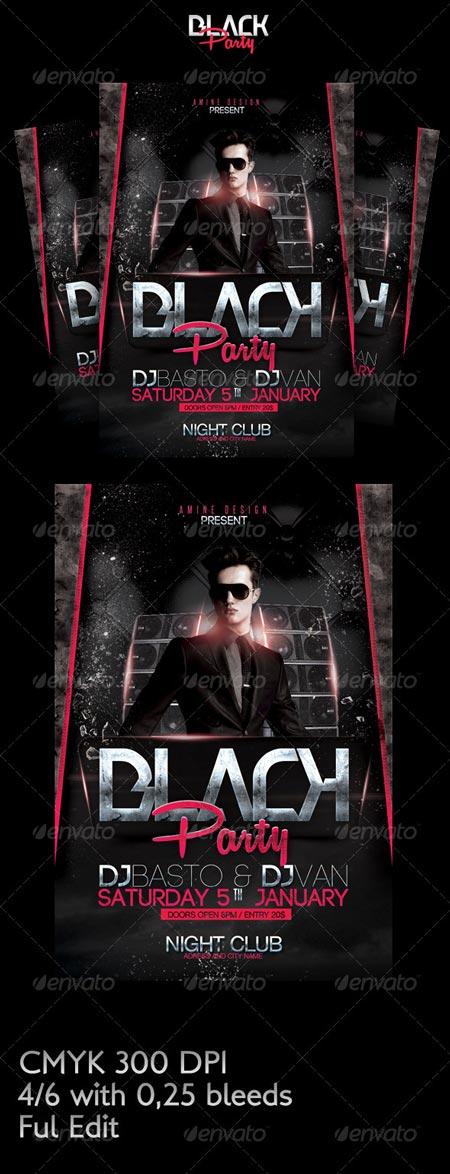 GraphicRiver Black party flyer 6509797