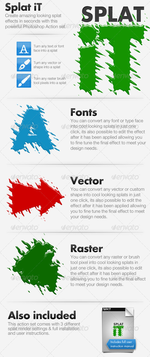 GraphicRiver - Splat iT - Give Your Work The Splat Effect!
