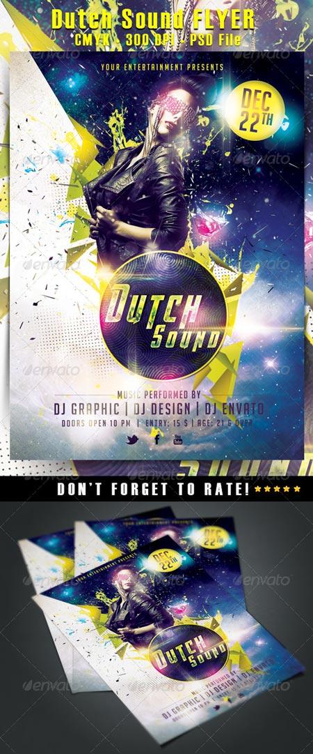 GraphicRiver Dutch Sound Flyer 6486046