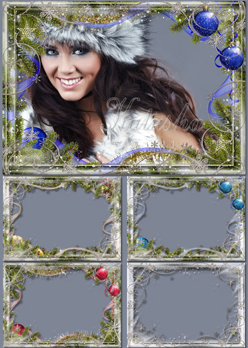 PSD Frames for Photoshop - Christmas Ornaments