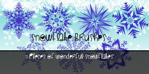 ABR Brushes - SnowFlake For Winter 2014