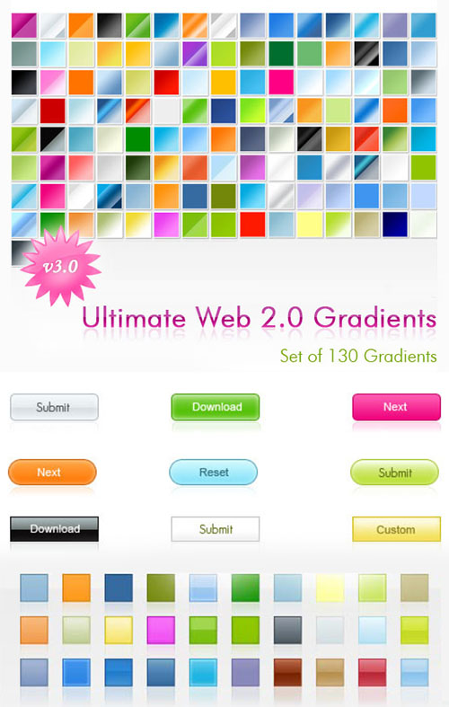 Web 2.0 Photoshop Gradients and Styles