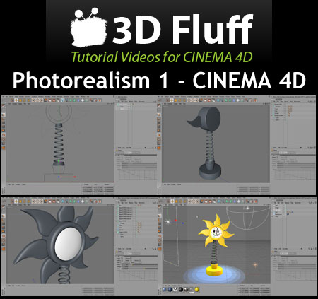 3DFluff Introduction To Cinema 4D R12 (1 dvd)