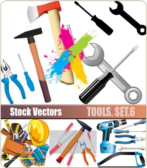 Tools. Set.6 - Stock Vector