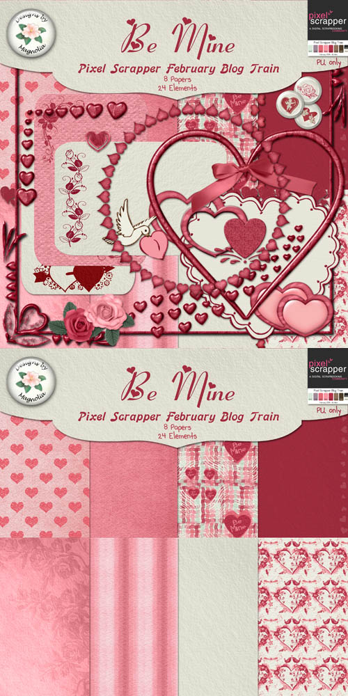 Be Mine Scrap PNG and JPG Files