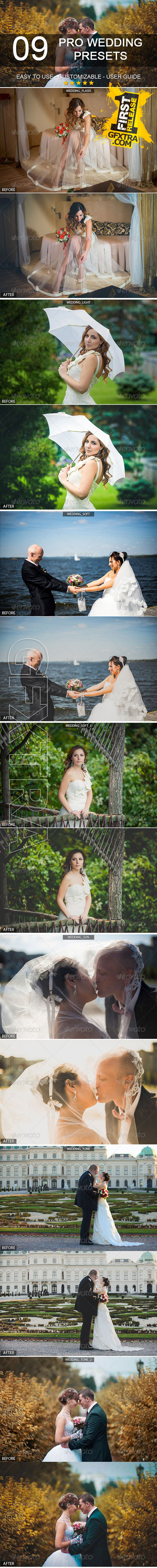 GraphicRiver - 9 Pro Wedding Presets 6372104