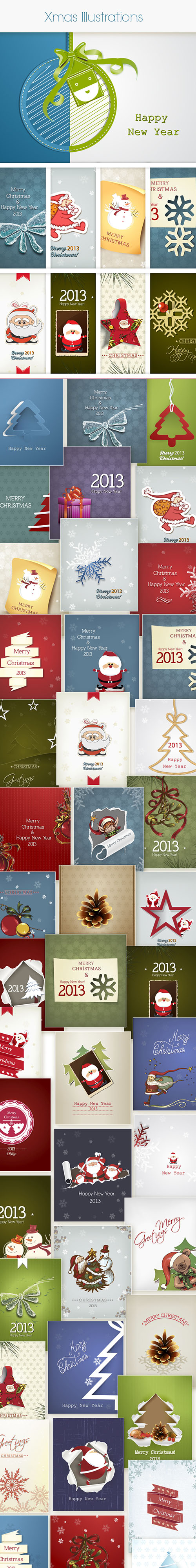 Christmas Vector Stock Illustrations Bundle