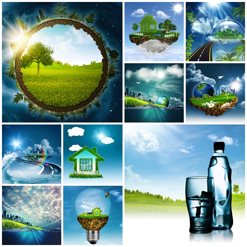Abstract eco backgrounds for your design - stock photo