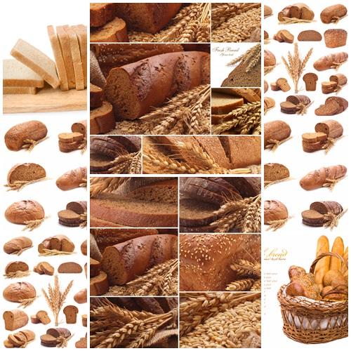 Fresh fragrant bread on each table - stock photo